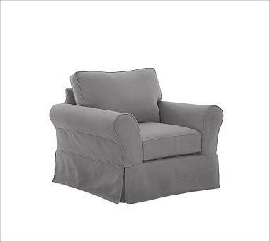 PB Comfort Slipcovered Grand Armchair, Box Cushion, Down-Blend Wrap Cushions, Ev traditional-decorative-pillows