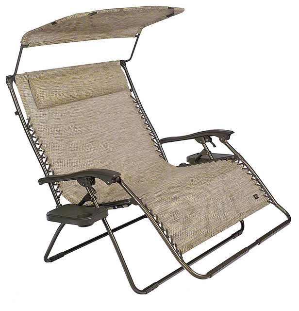 Sand Two Person Canopy Travel Reclining Chair