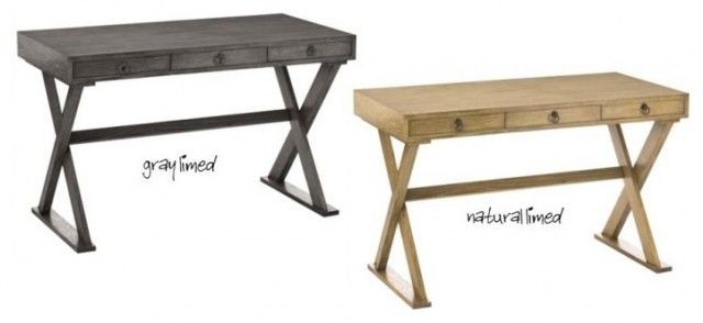 Cain Wooden Oak Limed Desk by Arteriors Home traditional-desks-and-hutches