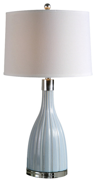 uttermost monona light blue table lamp contemporary table lamps. Black Bedroom Furniture Sets. Home Design Ideas