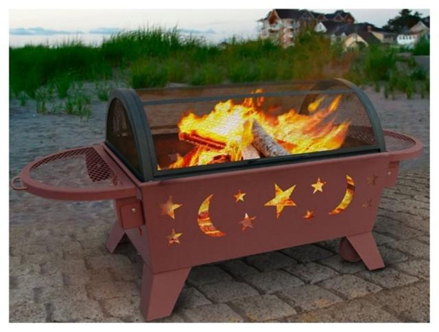 Landmann Northern Lights XT Stars & Moons Fire Pit - Georgia Clay Multicolor - 2 modern-fire-pits