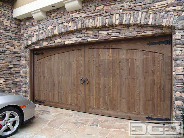 California Dream 19 Custom Arched Garage Door In Rough