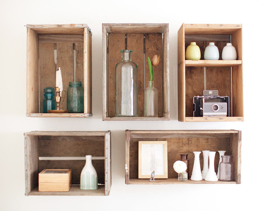 eclectic  Storage Solutions with Style: Floating Shelves