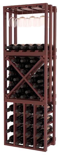 Lattice Stacking Cube - 3 Piece Set in Premium Redwood contemporary-wine-racks
