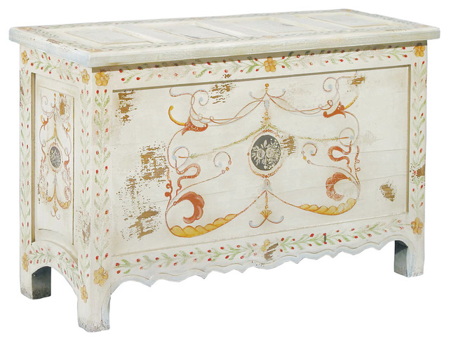 Painted Blanket Chest traditional-dressers
