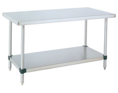 Metro Stainless Steel Table - 48x30x34 industrial-kitchen-islands-and-kitchen-carts