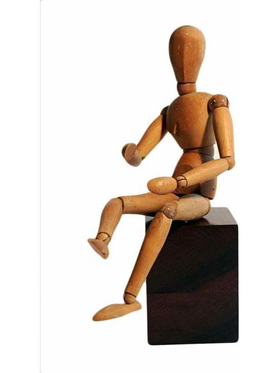 Articulating Model - A charming articulating model of a man. Every joint articulates! Perfect to display on a book case or on a tabletop.