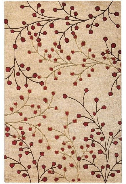 Springtime Rug I WhiteRed Modern Rugs by Home
