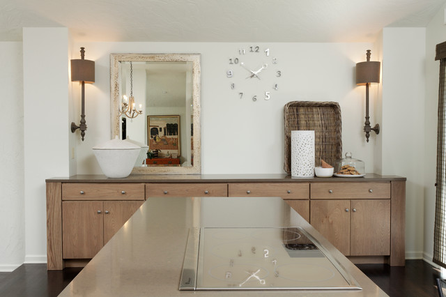 Contemporary Open Concept Living Area Transitional Kitchen Indianapolis