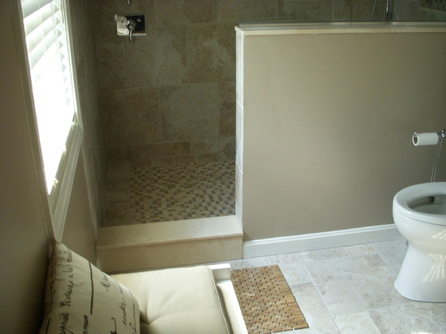 Master bath with walk in shower traditional boston