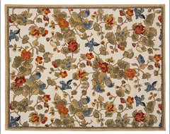 Bird Floral Rug traditional-rugs