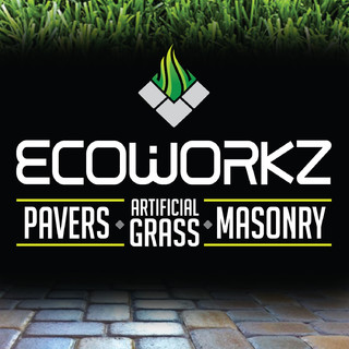 Ecoworkz Synthetic Grass & Interlocking Pavers Logo
