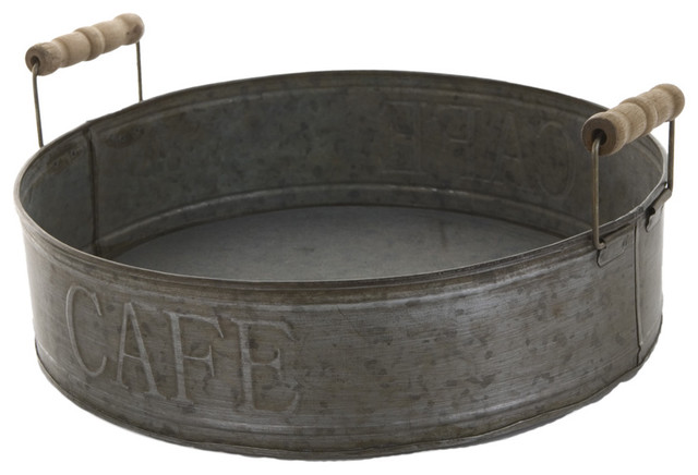 """Zinc Tray """"Cafe"""" traditional-kitchen-tools-and-gadgets"""