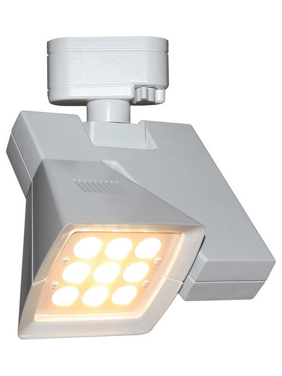 "WAC - WAC Logos 24 Degree White 23W LED Track Head for Juno - Logos track head for use with Juno track systems. White finish. 24 degree beam spread. Includes 23 watt LED. Light output is 1845 lumens. 2700K color temperature. CRI is 85. Average bulb life is 100000 hours when used 3 hours a day. Dimmable down to 10 percent with ELV dimmer. ENERGY STAR® rated. Low voltage. 8 3/4"" high. 7 1/4"" wide.  Logos track head for use with Juno track systems.  White finish.  24 degree beam spread.  Includes 23 watt LED.  Light output is 1845 lumens.  2700K color temperature.  CRI is 85.  Average bulb life is 100000 hours when used 3 hours a day.  Dimmable down to 10 percent with ELV dimmer.  ENERGY STAR® rated.  Low voltage.  8 3/4"" high.  7 1/4"" wide."