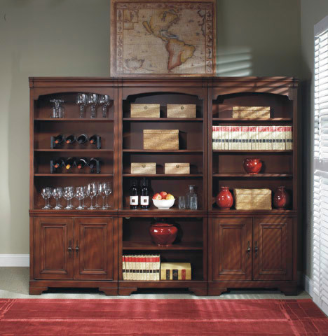 Richmond bookcase wall unit for Build traditional bookcases wall units