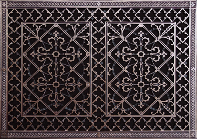 Arts crafts style decorative grille vent grate or register rubbed bronze 2 victorian - Decorative wall vent ...