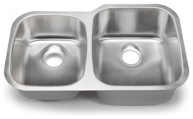 Hahn Chef Series 40/60 Double Bowl - Undermount traditional-kitchen-sinks