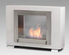 Eco-Feu Wellington 2-Sided Biofuel Fireplace contemporary-indoor-fireplaces
