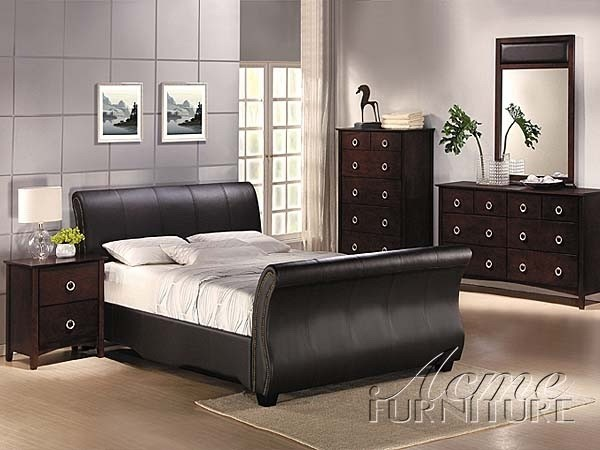 Acme Furniture Milano 3 Piece Bedroom Set 7487Ek 7490Q 3Set