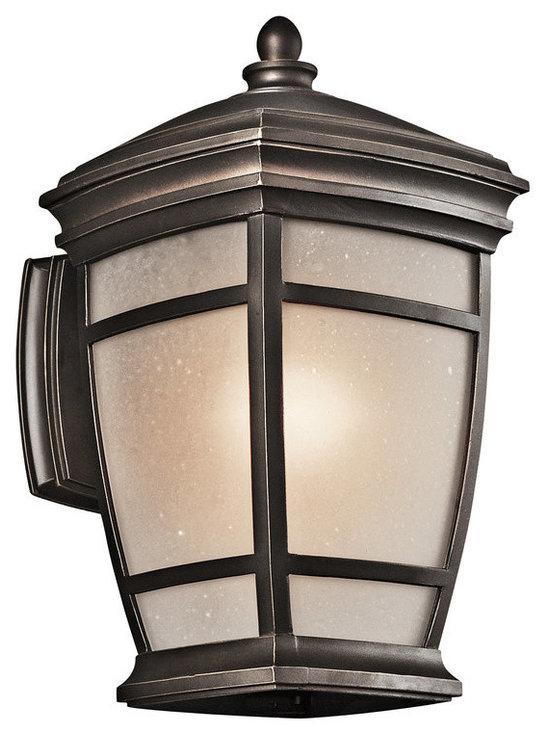 Kichler Lighting - Rubbed Bronze McAdams 1 Light 14 Energy Star Fluorescent Outdoor Wall Light - Kichler 49271-FL McAdams Fluorescent Outdoor Wall Light This fluorescent 1 light outdoor wall lantern from the McAdams collection showcases a timeless, classic design. Featuring an antique Rubbed Bronze finish and Light Umber Etched Seedy Glass, this fixture will enhance any space.