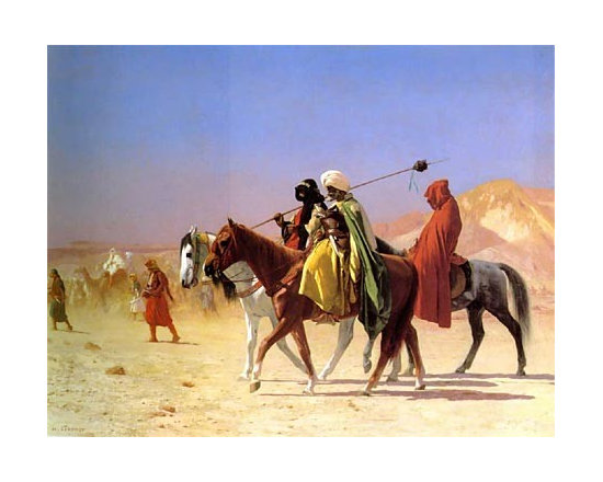 Arabs Crossing the Desert | Gerome | Painting Reproduction -