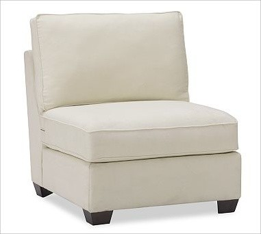 Buchanan Armless Chair Washed Linen Cotton Ivory