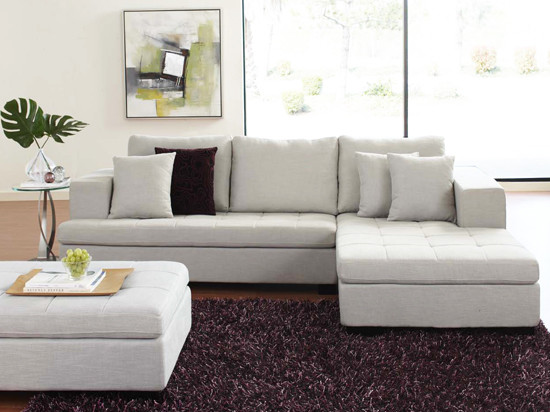 Mirak Sectional with Ottoman contemporary sectional sofas