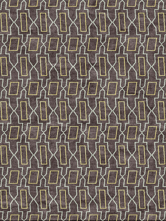 Tangier Gray - Tibetan wool and Chinese Silk. Hand-knotted at 100 knots per inch, woven in Nepal. Goodweave certified.