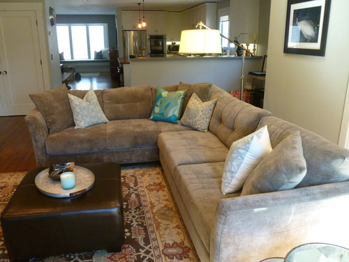 Large Sectional Small Room & Contemporary Blue Living Room With ...