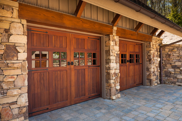 Wood stained garage doors modern garage doors and for Stained garage doors