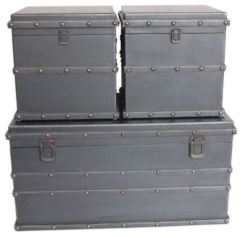 Moe's Home Collection Solok S/3 Trunk contemporary-storage-bins-and-boxes