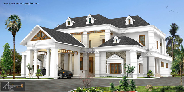 Colonial Style Homes In Kerala India Traditional Other