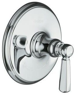 KOHLER K-T10593-4-SN Bancroft Thermostatic Trim with Metal Lever Handle in Polis traditional showers