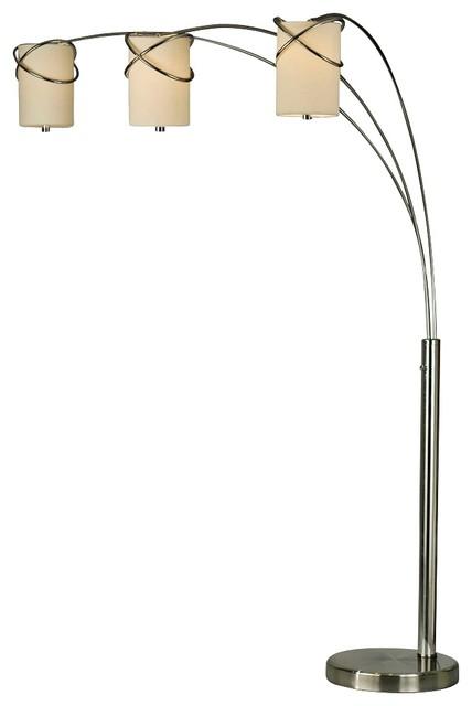 nova internal 3 light arc floor lamp contemporary