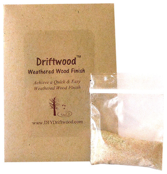 Driftwood weathered wood finish diy product to achieve for Can you stain driftwood