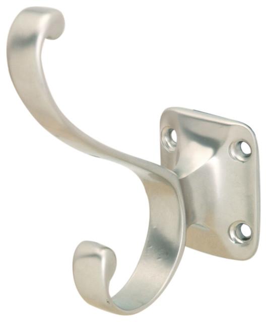 Hafele 845.06.600 Matte Nickel Decorative Hooks traditional-towel-bars-and-hooks