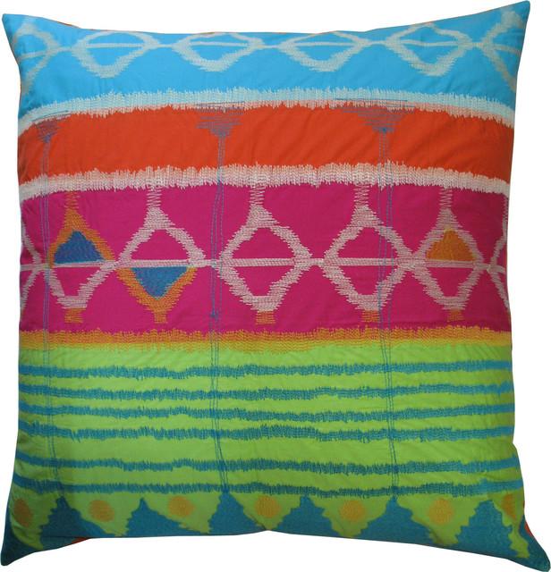 "Java Bright Pillow, 26"" x 26"" contemporary-decorative-pillows"