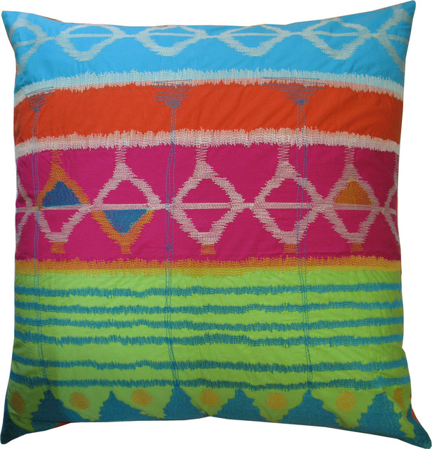 Festive Pillow, Pink eclectic pillows