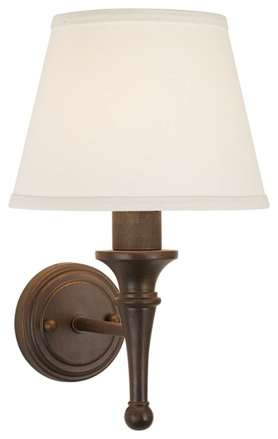 Rustic Wall Sconces Plug In : Bronze with Copper Highlights Plug-in Sconce - Traditional - Wall Lighting