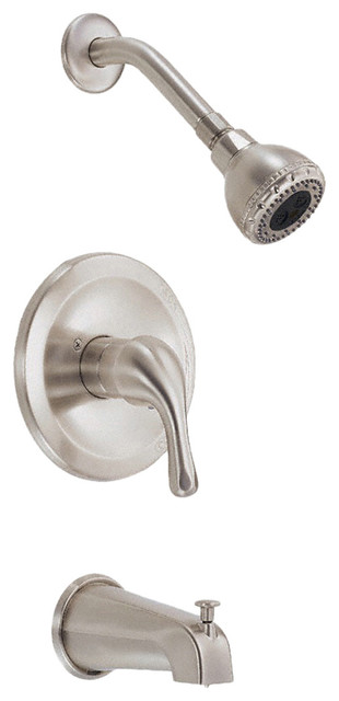 Danze D510011BNT Tub And Shower Trim Brushed Nickel modern-bathroom-faucets