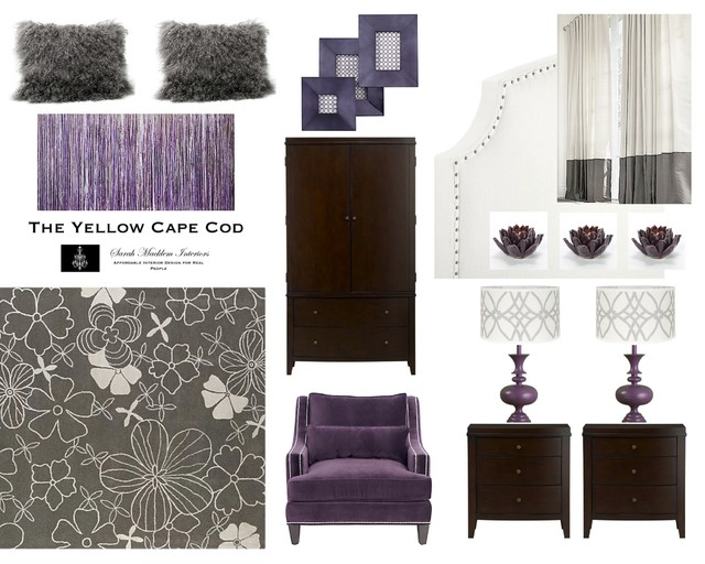 Gray And Purple Bedroom Contemporary Detroit By The Yellow Cape Cod
