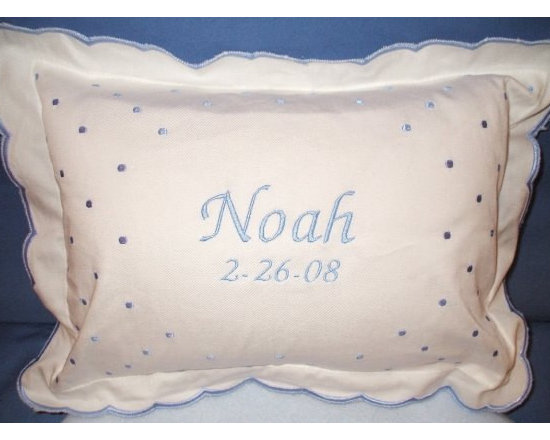 Classic Crib Pillow with Monogram -