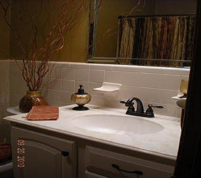 Taylor traditional vanity tops and side splashes - Faux marble bathroom countertops ...