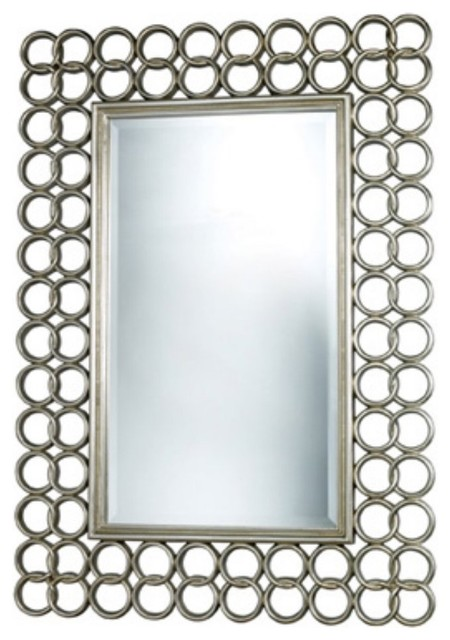 Parker Silver Leaf Mirror contemporary-mirrors