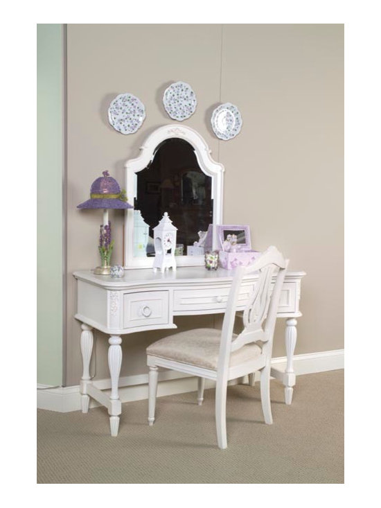 Bedrooms Furniture - Reflections Romantic Victorian Antique Off White Vanity