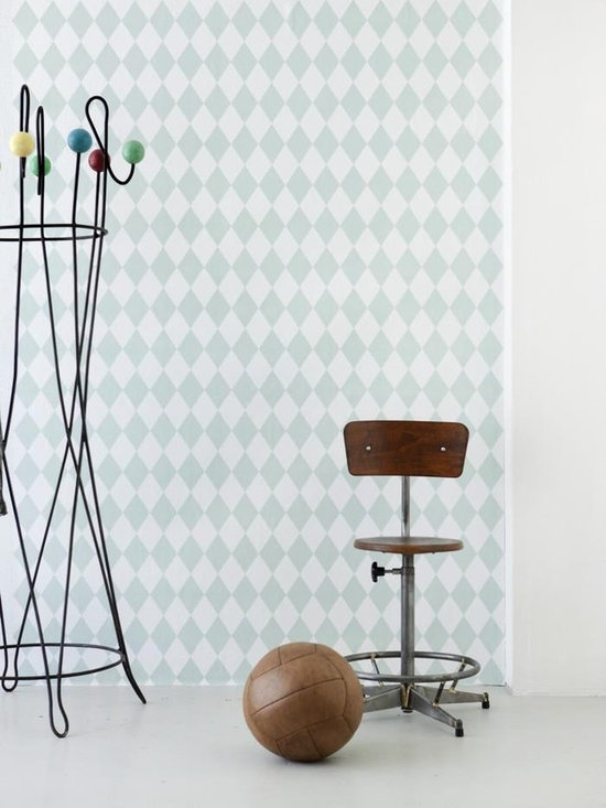 Ferm Living Harlequin Wallpaper - Ferm Living's Wallpaper is graphic & whimsical adding character, charm and personality to any room. Wallpaper has a striking effect and will without a doubt turn your room into a sanctuary.