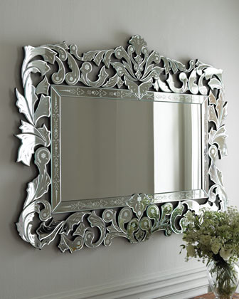 """Giorgia"" Venetian-Style Mirror  traditional-mirrors"