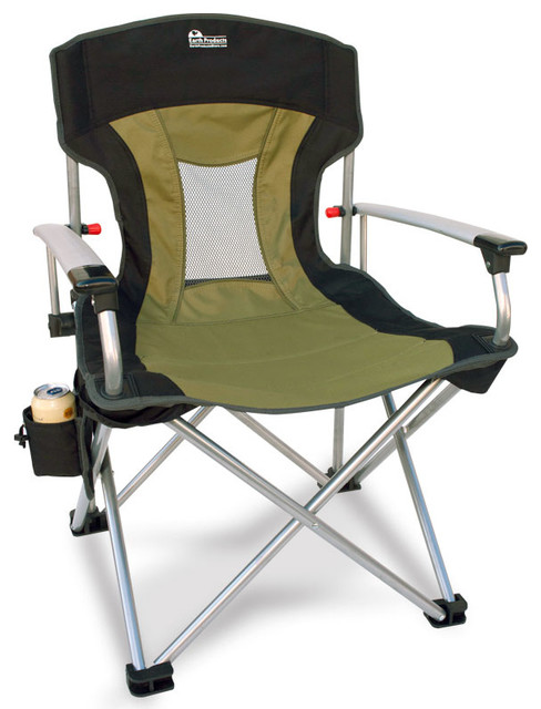 Earth New Age Vented Back Outdoor Aluminum Folding Lawn Chair Beach Style