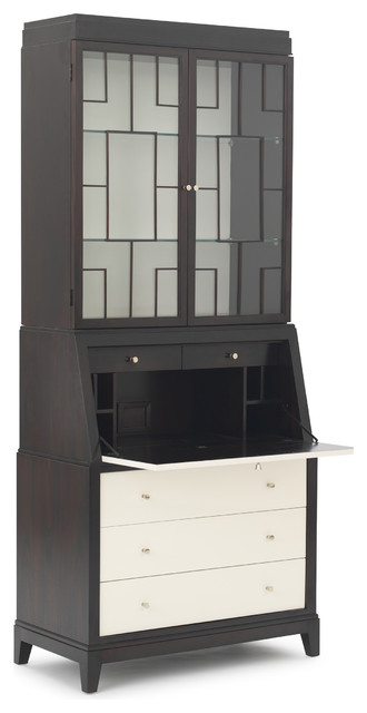 Huxley Secretary Desk with Hutch Modern charlotte by
