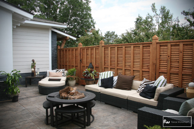 The Pearl Wood Privacy Fence  fencing